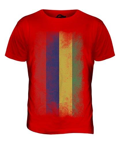 CandyMix Mauritius Verblichen Flagge Herren T Shirt Rot
