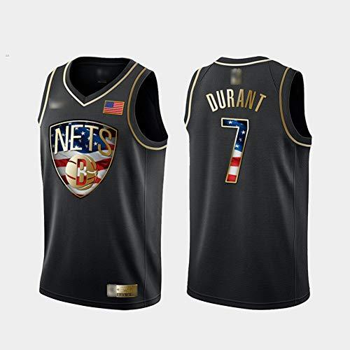 HS-XP NBA-Brooklyn Nets/Kevin Durant # 7 Männer Basketball-Trikots, Breathable Quick-Dry Tank Top Uniform Sweatshirt Basketball Swingman Jersey,2XL(185~190) cm