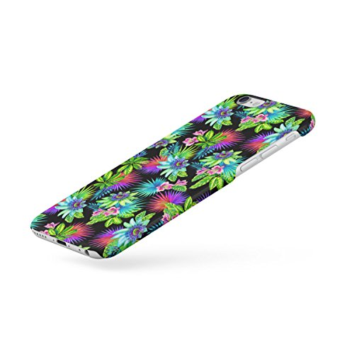 Tropical Flowers Pink Lotus Chevron Pattern Apple iPhone 6 , iPhone 6S Snap-On Hard Plastic Protective Shell Case Cover Custodia Trippy Jungle