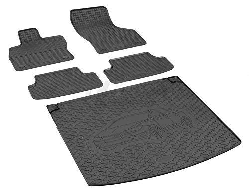Passende Gummimatten und Kofferraumwanne Set geeignet für SEAT Leon ST ab 2014ein Satz