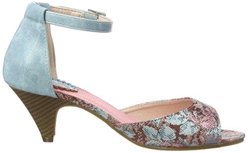 Joe Browns Sunday In Seville Shoes, Bride de cheville femme Multicolour (a-blue/pink Multi)