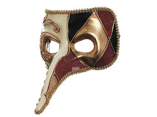 Venezianische Maske mit langer Nase, Weiß (Nase Maske Venezianische Lange)