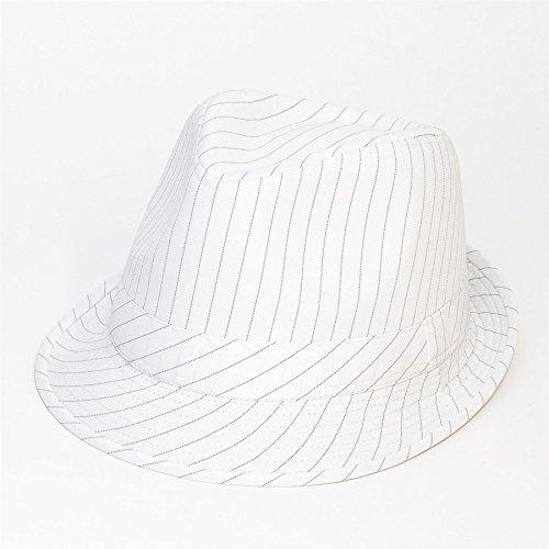 Herren Damen/Frauen Unisex Nadelstreifen Fedora Panama Trilby Sommerhut Kappe/Hüte/Mütze (Baseball Nadelstreifen-hut)
