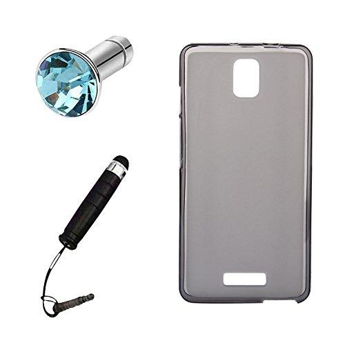 Lusee® Silikon TPU Hülle für Alcatel One Touch Pop Star 4G 5070X 5070D Schutzhülle Case Cover Protektiv Silicone halb transparent grau
