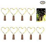 10 x Flaschen-Licht mit Kupferdraht, Mini-Lichterkette Flaschenbeleuchtung,Batteriebetriebene Sternenlichter für Flasche DIY, Weihnachten Hochzeit und Stimmung Lichter