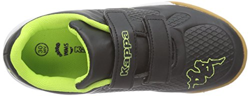 Kappa VYPER Unisex-Kinder Sneakers Schwarz (1140 black/yellow)