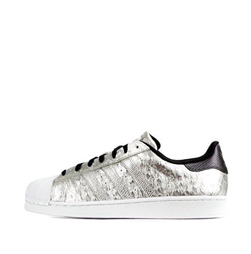 Adidas Superstar Herren 2 (ADIDAS ORIGINALS SUPERSTAR SNEAKER II SCHUHE STRAUSSEN LEDER SILBER METALLIC , Schuhgröße:EUR 42 2/3;Farbe:Silber)