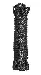 Master Series Premium Bondage Nylon Rope, Black