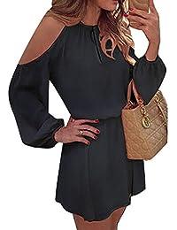 Brunotti Kleid Dress Minikleid Idida Neckholder blau Träger Streifen
