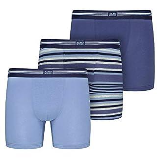 Jockey – Calzoncillos bóxer elásticos de algodón (3 Unidades) Construct Blue XXXL