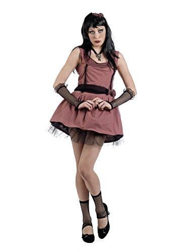 Mascarada MA665 Gr. L - Manga-Girl-Tobiko Kostüm, Größe L, braun