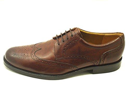 Novelty  Art 66012 Derby Inglese, Chaussures de ville à lacets pour homme Marron