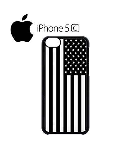 American Flag Black and White Mobile Cell Phone Case Cover iPhone 5c Black Weiß