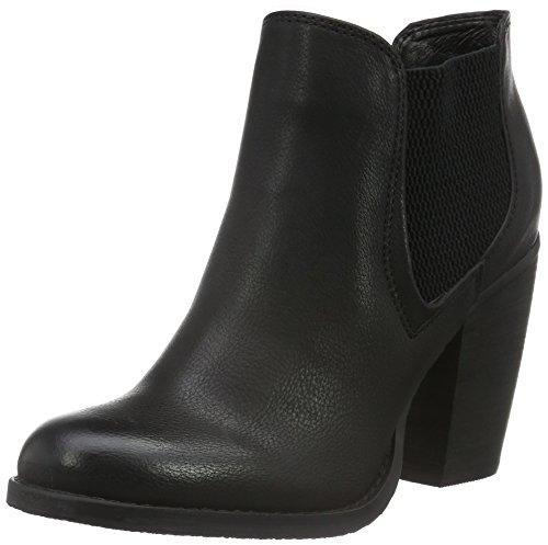 BUFFALO - B018f-33 P2166a Pu Leather, Stivali bassi con imbottitura leggera Donna Nero (nero (black 01))