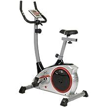 Christopeit AL 1 x - Bicicletas estáticas y de spinning para fitness ( 9 kg, imán, con pantalla ), color plateado, talla 96x59x134 cm