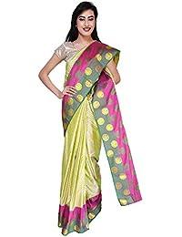 da46a1d5f5 VFCollections - Kanchipuram Pattu Silk Bridal Saree - Double Border With Blouse  Piece For Women
