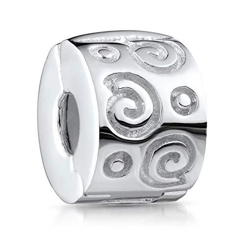 MATERIA Beads 925 Silber Stopper Clip Schnecken - Damen Mädchen Anhänger im Schmuckbeutel 244