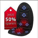 EvoFit RANG #1 in Massageauflagen mit Wärmefunktion für Auto | Vibrationsmassage | Sitzheizung | 2019 Edition | Auto Büro oder zu Hause | Service aus Deutschland