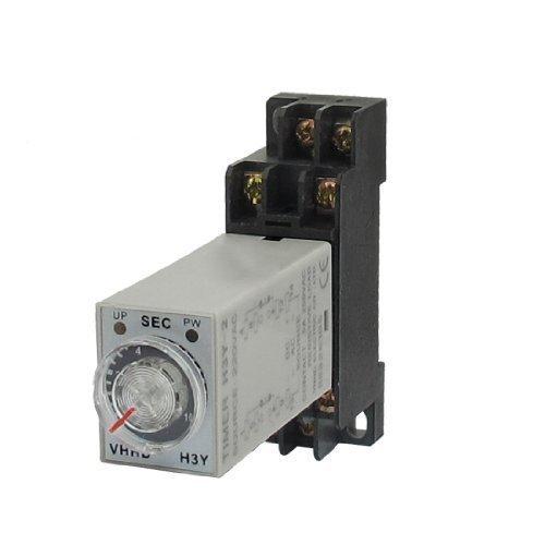 Preisvergleich Produktbild AC 220V 8P DPDT 0-10seconds Timer Delay Time Relay h3y-2W-Fassung