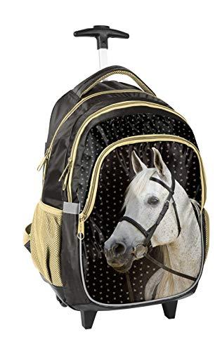 Trolley Pferd Rucksack mit Rollen Schulrucksack 18-997HS