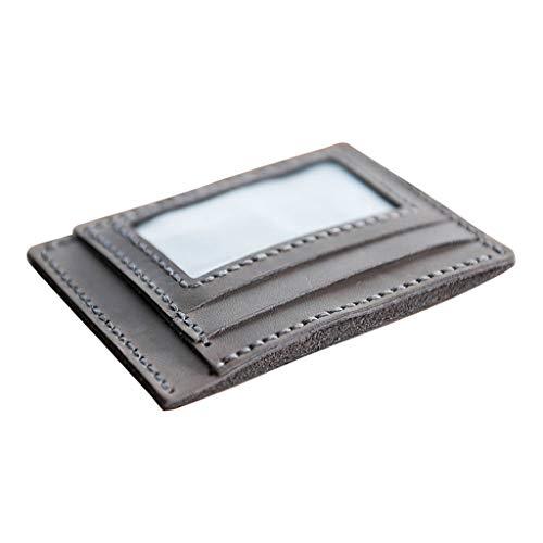 perfk DIY Handgefertige Geldbörse Kit, Card Bag Leder Brieftasche Geldbeutel Kartenetui Wallet - Hellgrau
