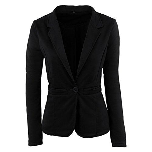 ZKOO Kurz Blazer Jacke Mit Taschen Elegant Freizeit Schlank Business Lange Hülse Büro Frauen Jacken Knopf Anzug