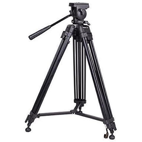 Blulux.it ST-650 Treppiede professionale per video in alluminio. Gambe parallele. Estensibile fino a 164 cm (Parallelo Unità)