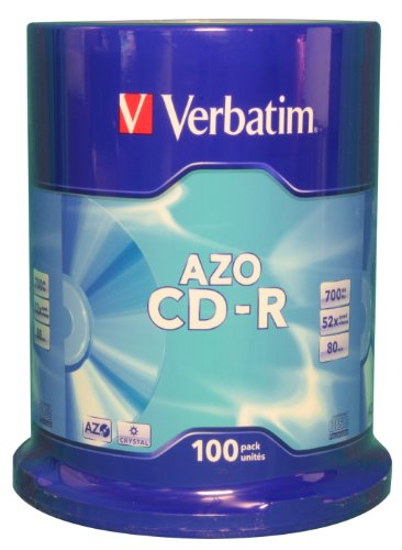 Verbatim AZO Crystal Surface 52X 700MB CD-Rohlinge 100er Spindel Verbatim Spindel