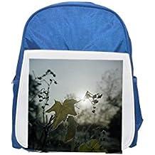 Grapevine ligeramente plateada con la mochila azul infantil estampada por la mañana, lindas mochilas pequeñas, lindas mochilas negras, mochila negra fría, mochilas de moda, grandes mochilas de moda,