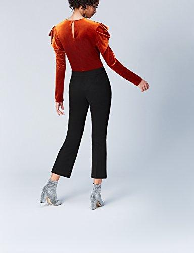 FIND Damen Weite Anzughose mit Schlag Schwarz (Black), 38 (Herstellergröße: Medium) - 3