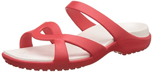 Crocs Meleen Twist, Ciabatte Donna Flame/Oyster