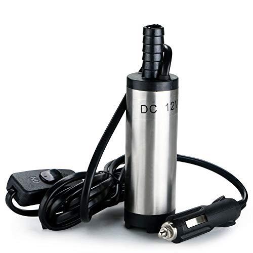 Tragbare 12 V Edelstahl Tauchpumpe Wasser Diesel Öl Kerosin Flüssigkeit Flüssigkeit Kraftstoff Transferpumpe Für Auto Tanken Aquarium Silber -
