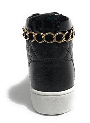 Guess Gerta, Sneaker a Collo Alto Donna Nero