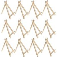 Caballete de visualización de madera Sicai, juego para pintar manualidades, dibujo, 12 unidades, 15cm.