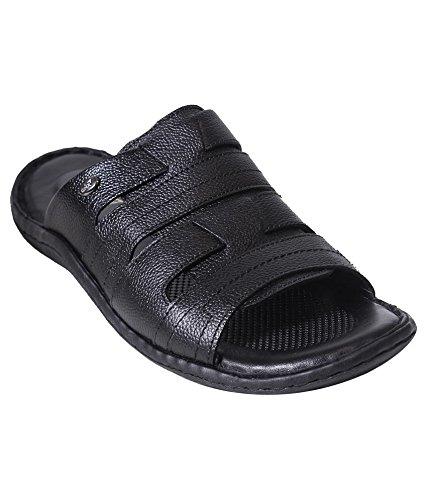 GNX Men Black Casual Comfort Slipper