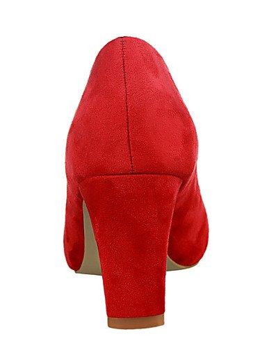 WSS 2016 Chaussures Femme-Extérieure / Bureau & Travail / Soirée & Evénement-Noir / Vert / Rose / Rouge / Gris / Fuchsia-Gros Talon-Talons / Bout gray-us5 / eu35 / uk3 / cn34