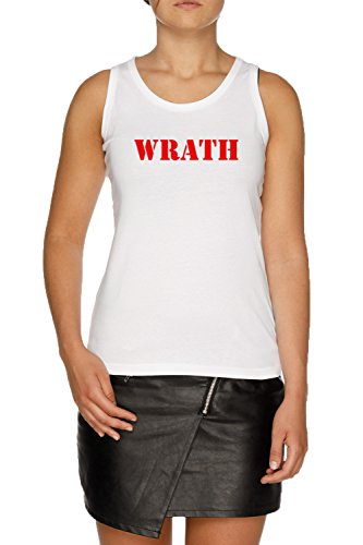 Jergley Wrath Damen Weiß Tank T-Shirt Größe XL | Women's White Tank T-Shirt Size XL -