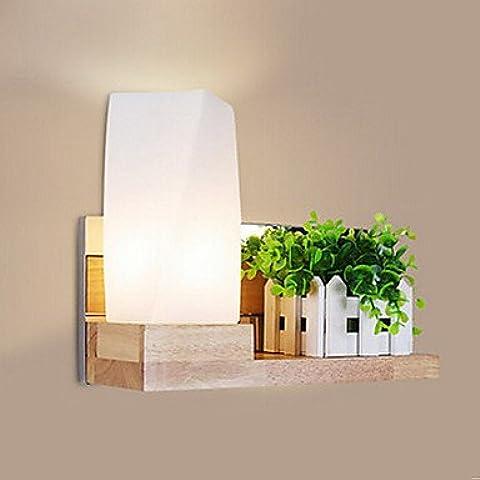 Lámparas de pared LED LED moderno de madera de estilo conciso Apliques de pared,4 Niveles Chrome