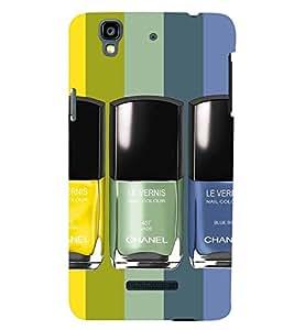 Printvisa Premium Back Cover Nail Polishes in A Pattern Design for YU Yureka Plus::Micromax Yureka Plus YU5510A