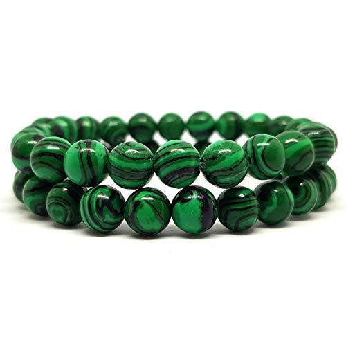 KARDINAL WEIST Malachit Perlenarmband, Chakra Schmuck für Damen und Herren, Energiearmband aus Malachitperlen, Yoga-Armband - Kardinäle Damen-accessoires