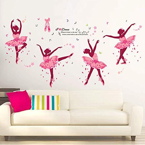 GZ-Wandaufkleber Aufkleber Ballett Tanztraining Klassenzimmer Wanddekoration Persönlichkeit kreative Kunst Mädchen Tapete selbstklebend