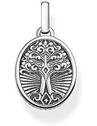 Thomas Sabo Unisexe Pendentif Tree of Love Argent Sterling 925, Noirci PE864-637-21