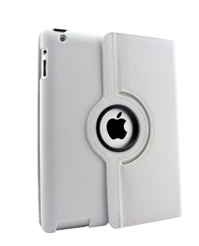 inShang Hülle für Apple iPad 2 iPad 3 iPad 4, Edles PU Leder Tasche Hülle Skins Etui Schutzhülle Ständer Smart Case Cover für Tablet iPad2 iPad3 iPad4, Super Automatische Einschlaf-/Aufwach funktion, 360 Grad rotierende Schutzhülle mit Standfunktion