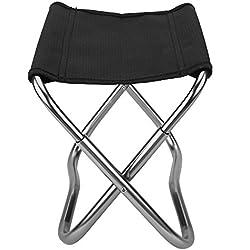 Mini Chaise Pliante Siège Tabouret Pliable Léger Portable pour Camping Pêche Escalade Randonnée