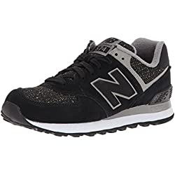 New Balance 574, Zapatillas Deportivas Mujer, Negro (Black)