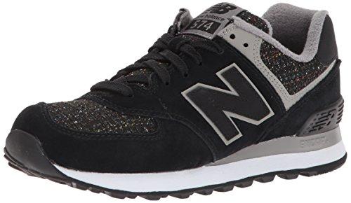 New Balance 574, Zapatillas Deportivas Mujer, Negro (Black), 39 EU