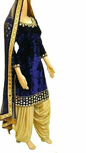Diwali and New Year New Arrival Punjabi Patiala Style Suits for Young lady and Womens Sold By Aaron Fashion (Blue)