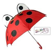(Scribble) Kids Ladybird Umbrella