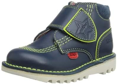 Kickers Boys Kick Hi Champ Boots 112652 Dark Blue/Green 6 UK Child, 23 EU