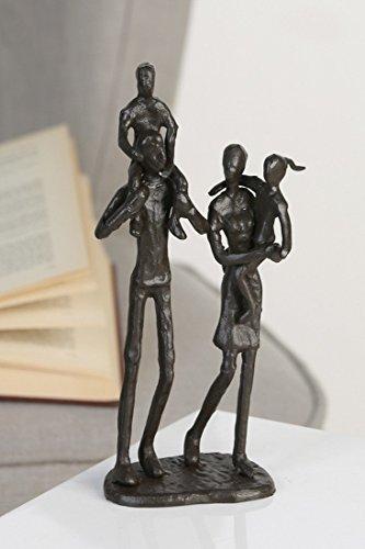 "Casablanca 74571 Design Skulptur\""Family\"" - Eisen brüniert 22 x 10 x 6 cm"
